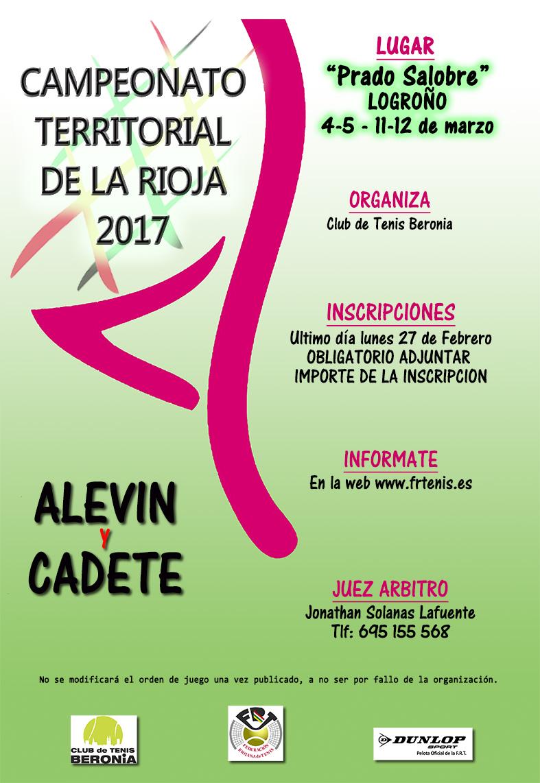 CAMPEONATOS TERRITORIALES DE LA RIOJA ALEVIN Y CADETE
