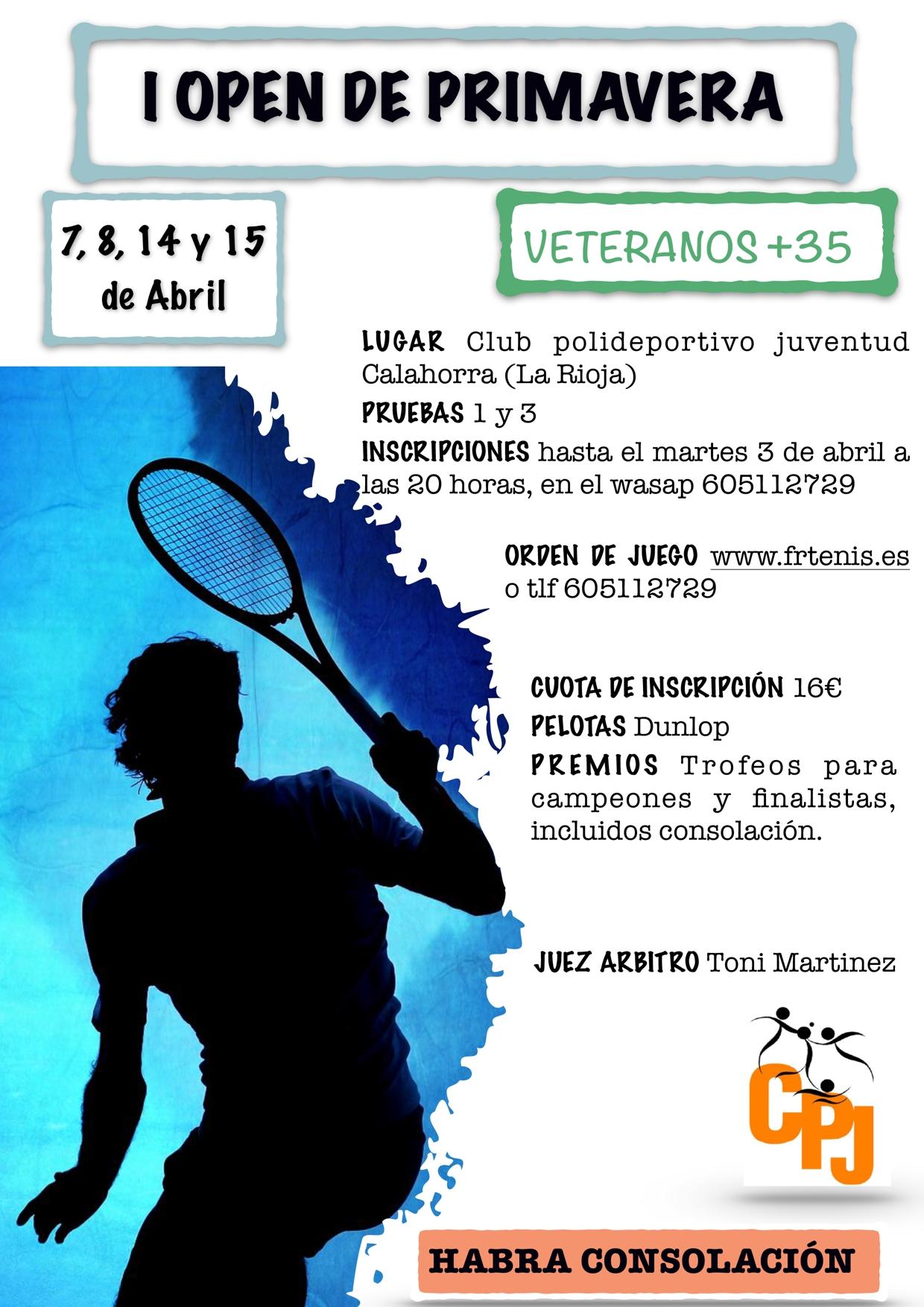 I OPEN DE PRIMAVERA VETERANOS +35