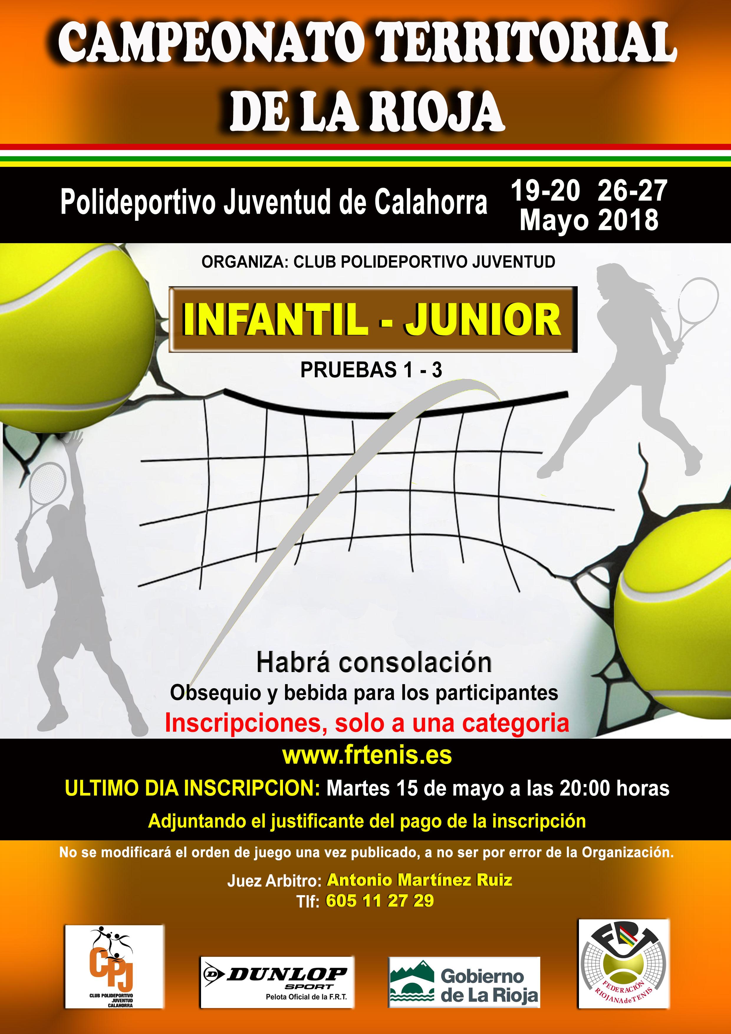 CAMPEONATO TERRITORIAL DE LA RIOJA INFANTIL Y JUNIOR