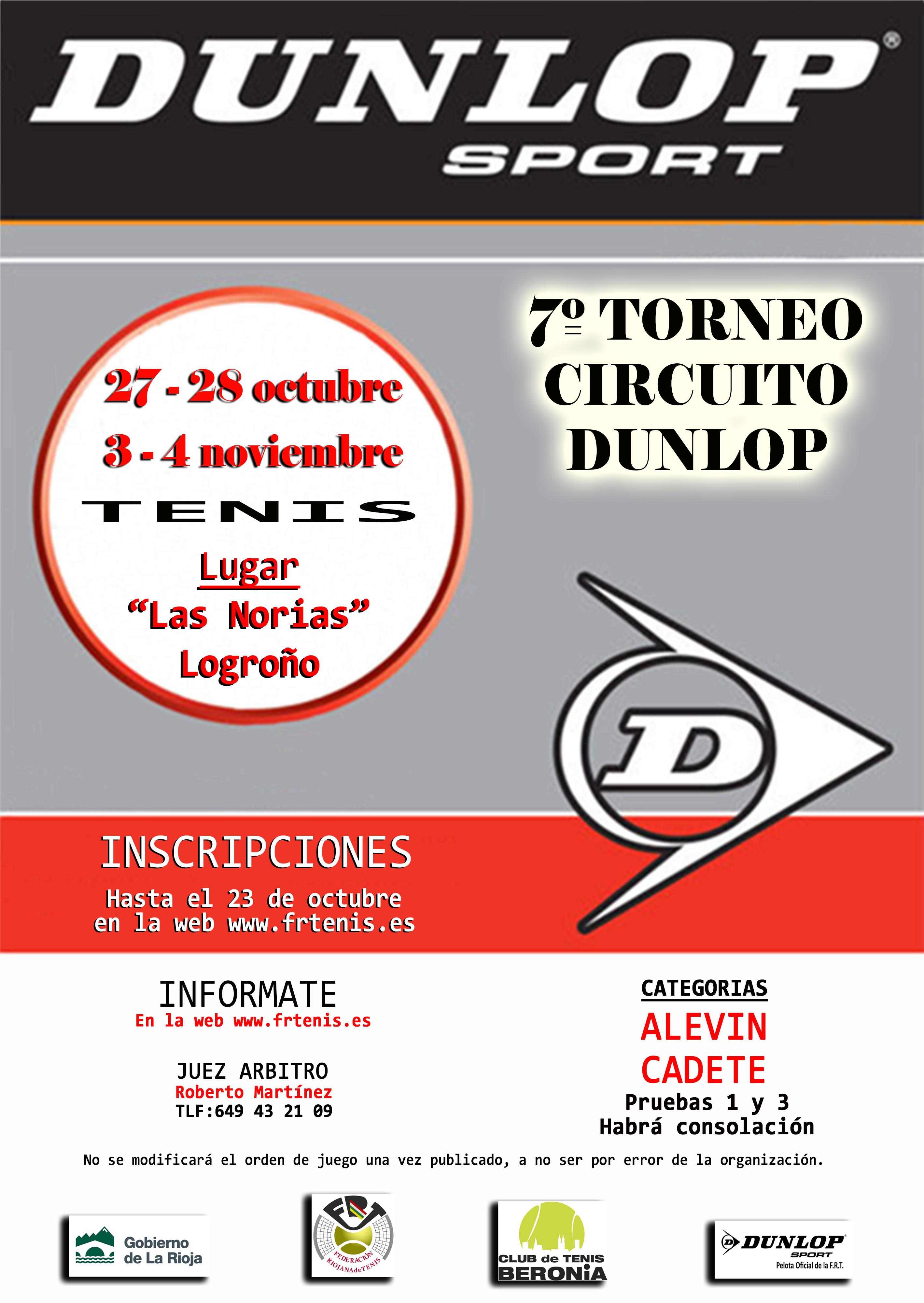 7º Torneo 2º Circuito Dunlop