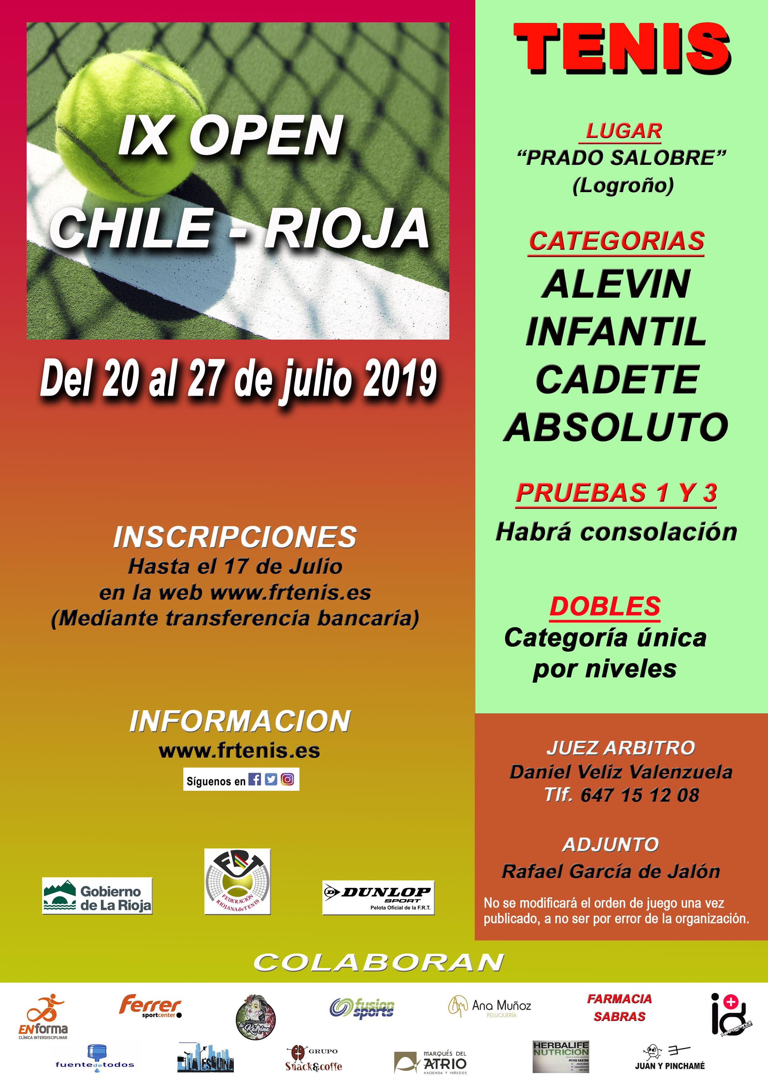IX Open Chile Rioja 2019