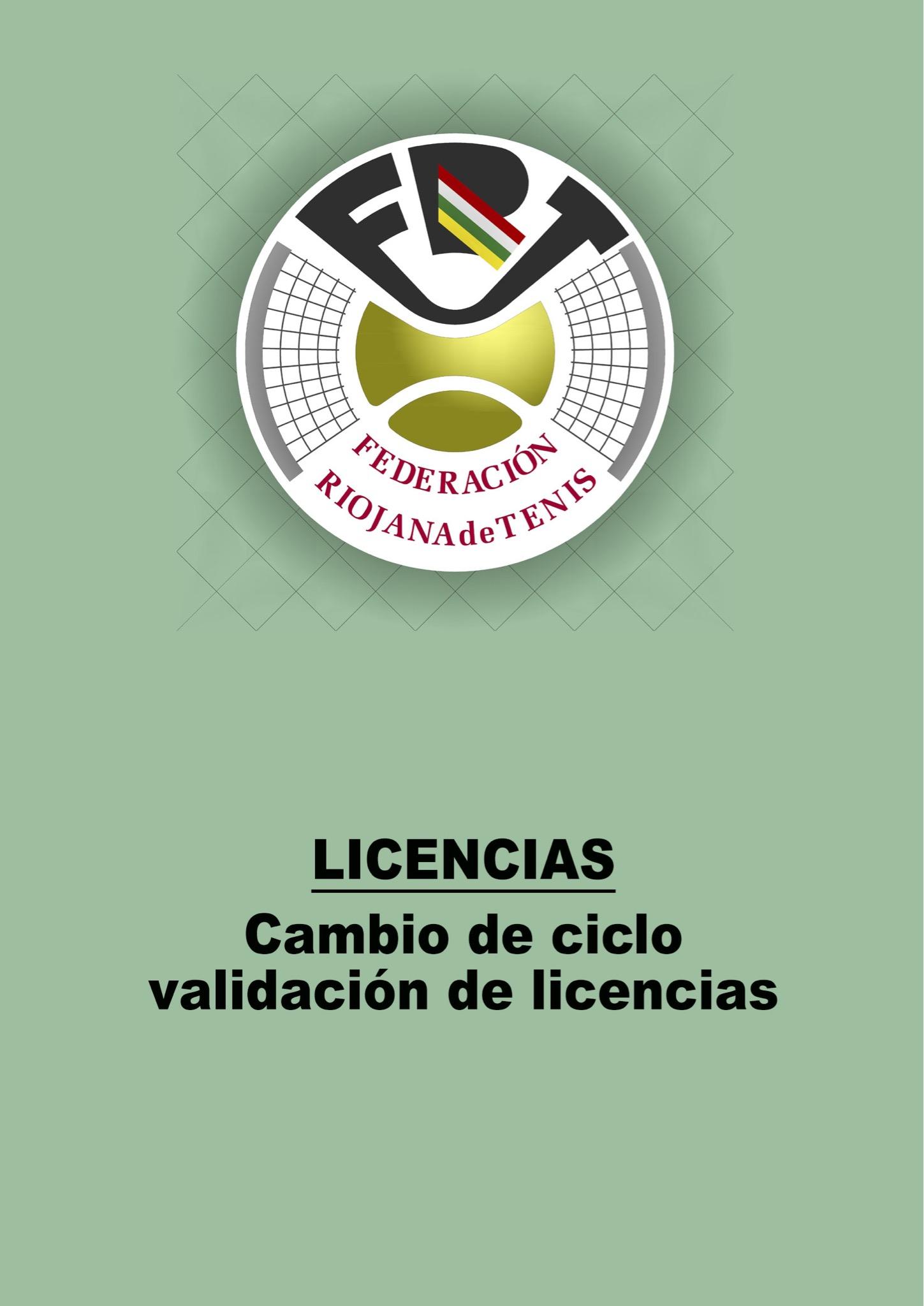 Licencias. Cambio Ciclo Validación