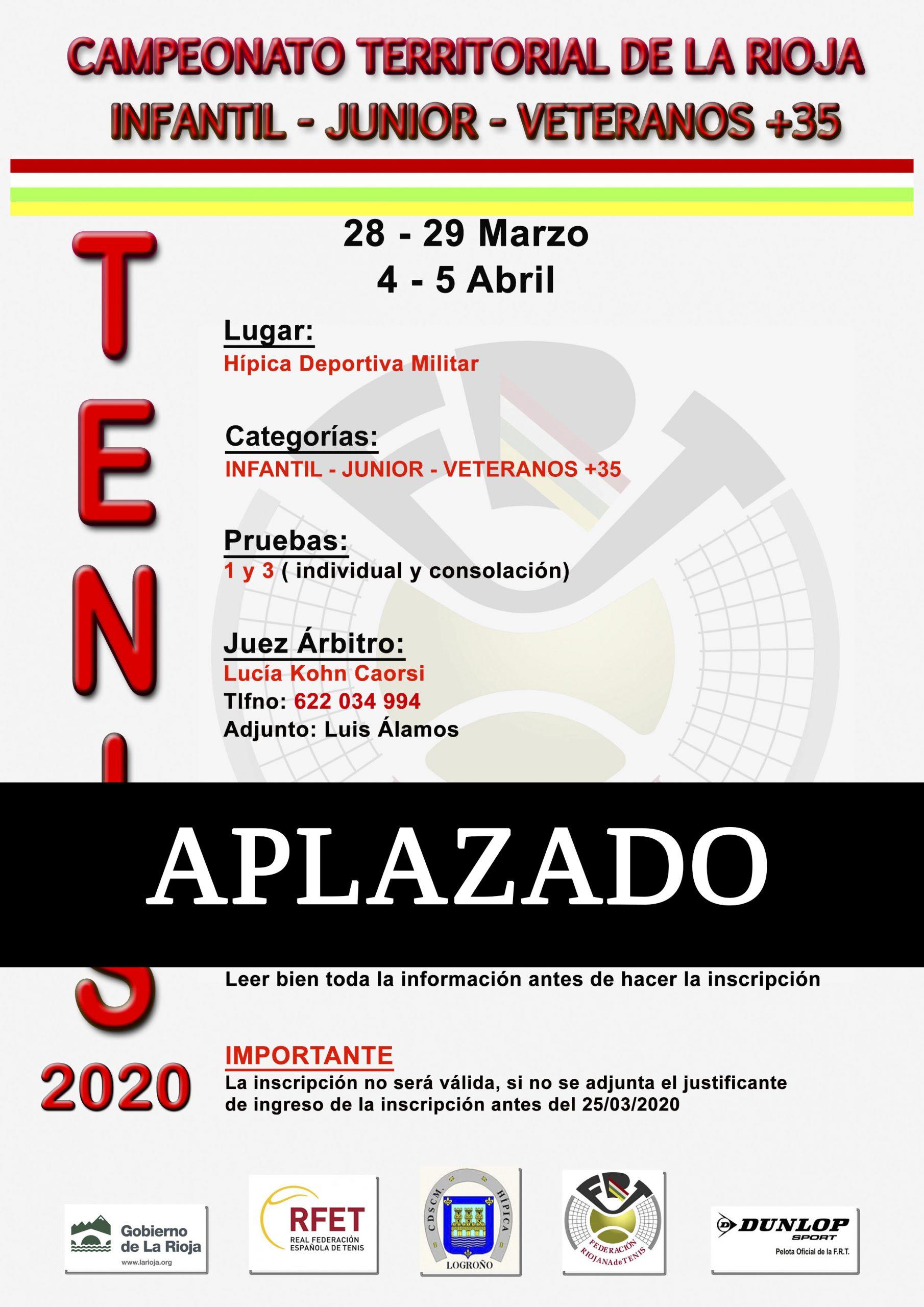 Campeonato Territorial de La Rioja Infantil-Junior-Veteranos+35